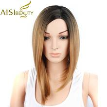 AISI BEAUTY Short Wig Bob Blonde Wigs for Black Women African American Ombre Hair