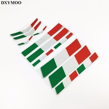 Reflective Decals Helmet Motorcycle Car Sticker Bumpers MOTO GP Italy Flag Vinyl Tape Reflective Car-styling(China)