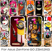 Silicone Plastic Phone Case For Asus Zenfone GO 2nd Gen ZB452KG Bag Cover ASUS_X014D ZB450KL 4.5 inch Case Cover Minions Housing