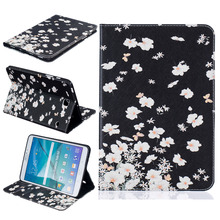 Funny Desgin PU Leather Back Cover Case Protective Shell For Samsung TAB S2 T710 T715 Clamshell Wallet Phone Case+Card Holder