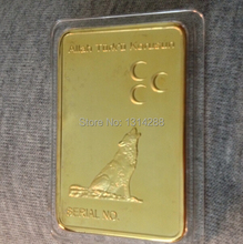 DHL free shipping 50pcs/lot The moon Gold bullion  Allah Turku korusun Gold bullion Jesus  Christian Gold bullion