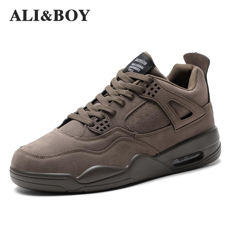 ALIBOY New Style Men Running Shoes for Men Retro Style 2017 Man Sneakers  Cushioning Suede Sports 1ea9f3ad150