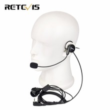 Retevis 2 Pin Earpiece Mic Finger PTT Headset for Kenwood BAOFENG UV-5R BF-888s Retevis H777 RT5 Ham Radio Hf Transceiver C9029A(China)