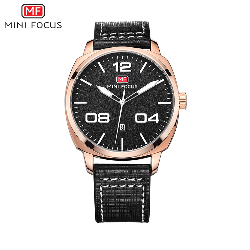 MINI FOCUS 2017 New Arrival Fashion Brand Man Business Quart Wristwatches Leather Strap 30m Waterproof Clocks Male MF0013G<br><br>Aliexpress