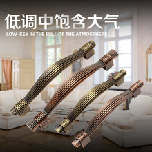 single hole/96mm/128mm red copper or Antique Brass Zinc Alloy Kitchen Furniture cabinet Handle bedroom drawer pulls
