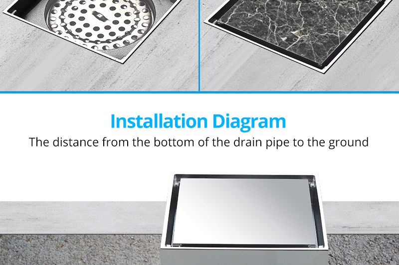 DCAN Brass Drains Drain Strainers Floor Linear Shower Floor Drains Bathroom Shower Drain Cover Kitchen Filter Strainer Drainer (7)
