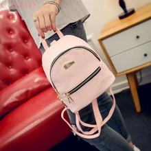 Drop Shipping Small Fashion Rucksack Hotsale Women Shopping Purse Ladies Joker Bookbag Travel Bag Student school BackpacksMay3(China)