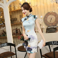 New Arrival Women Chinese Traditional Dress Vestido De Festa Qi Pao Short Female Cheongsam Chinese Ancient Clothing 89