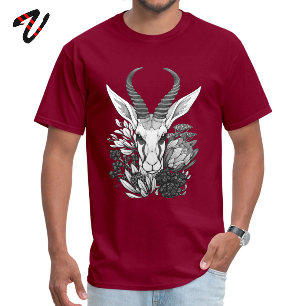 Springbok & Fynbos Tshirts 2019 New Fashion Simple Style Pure Cotton Round Neck Male Tops & Tees Tops T Shirt Thanksgiving Day Springbok & Fynbos 510 maroon