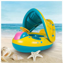 Inflatable Round Toddler Baby Ring Swimming Pool Accessories float seat plastic piscina with canopy for newborn(China)