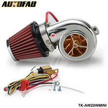AUTOFAB - Turbo kits Mini Electric Turbo Supercharger Kit Air Filter Intake for all car Motorcycle AF-AW20WMINI