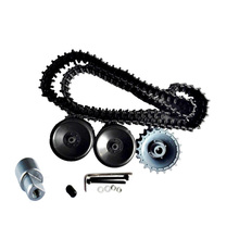 Original DOIT One set Accessory for Robot Tank Chassis Including Plastic Track+ Driving Wheel+ Bearing Wheel+ Coupling