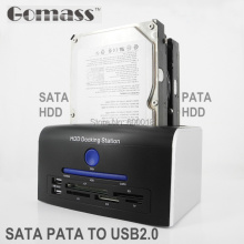 USB 2.0 to 3.5 / 2.5 inch PATA / SATA II III HDD Docking Station dock to usb 2.0 docking station External Hard Drive up to 6TB(China)