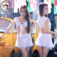 Buy LeecheeQ704 Women sexy lingerie temptation lenceria sex perspective net yarn cosplay uniform lady erotic underwear porn costumes