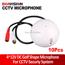 BOAVISION 100 Square Meters Mini CCTV Security Surveillance Microphone CCTV Audio Pickup Input 1PC,5PCS,10PCS/LOT Sales