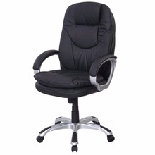 Black PU Leather High Back Office Chair Executive Ergonomic Computer Desk Task HW50278(China)