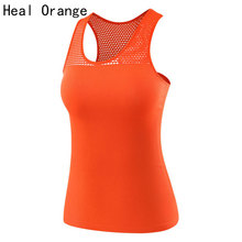 HEAL ORANGE Sport Vest Women Tank Top Gym Sleeveless Sport Shirt Sports Top Singlets Women Running Wear Clothing Running Vest(China)