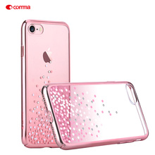 COMMA i7 i7plus i7+ Cases Coque Elegant Crystal Decor Plated PC Case for Apple iPhone 7 Plus 4.7'' 5.5'' Smartphone Cover(China)