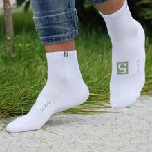 2017 7pairs White Week Men Socks Funny Design Cotton Short Winter meias Number1 Men's Sock Short Casual Unisex Autumn Male Sox(China)