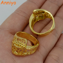 Anniyo (ONE PIECE) African Wedding Ring for Women,Gold Color Ethiopian Ring/Arab/Eritrea Jewelry/Nigeria/Wife/Mama Gift #013202