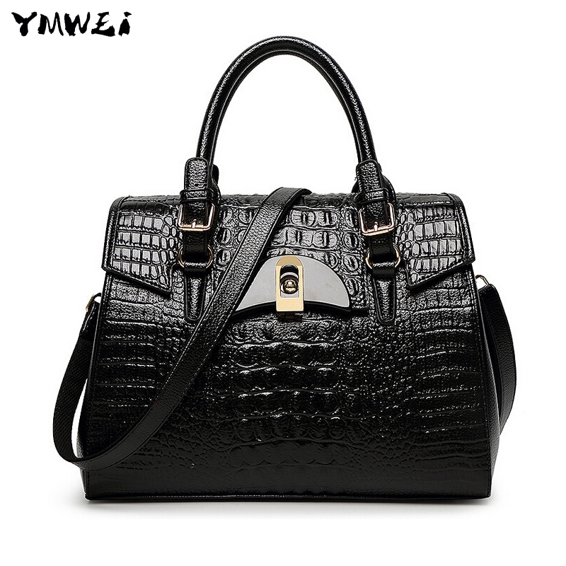 2017 new female middle-aged female PU leather hand bag bag lady crocodile grain shells worn single shoulder bag<br><br>Aliexpress