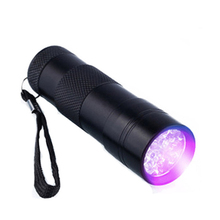 Professional Fluorescent agent detection UV 395nm led Flashlight torch lamp purple violet light For3AAA battery zk50