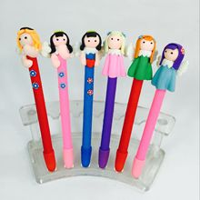 10pcs/lot new fresh love angel pottery clay gift pen cartoon girl ballpoint pen(China)