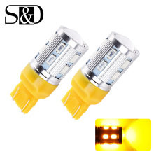 1156 BA15S 12 SMD LED Bulbs Cree Led Chip Car lamp p21w R5W 3157 3156 7443 rear brake Lights Source parking 12V Amber White D010
