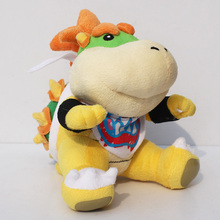 Super Mario bros plush toys 18cm Bowser JR Koopa Bowser dragon plush doll Brothers soft Plush Retail