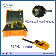 29mm self-levelling sewer pipe inspection camera head drain video camera system cable 40m 512hz sonde and locator(China)