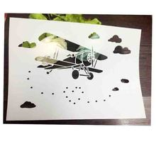 Airplane Clouds Scrapbooking tool card DIY album masking spray painted template laser drawing stencils 673119