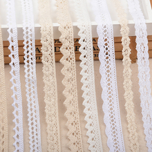 5yards/lot Lace Trim Ribbon White/Beige Cotton Lace Trim Apparel Sewing Fabric Lace Home Decoration DIY handmade craft