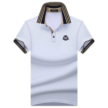 Plus Size! S-10XL 2017 Summer Fashion Brand Men's shirt Men Polo Shirt Summer Short Sleeve Polos Shirt T Designer Polo Shirt(China)