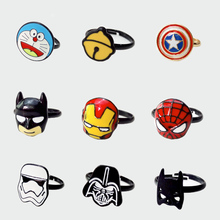 22 types Movie Star Wars Batman Captain America Ring Anime Cute Cartoon pokemon go Pikachu Finger Ring Costume Souvenir dropship
