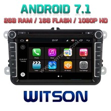 WITSON S190 Android 7.1 Quad-Core 2GB RAM 16GB ROM CAR DVD for VW TOURAN JETTA SKODA SEAT CC POLO GOLF 5+DVR/WIFI+DSP+DAB+OBD(China)