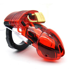 Electric Shock Cock Cage Electro Penis Lockdown Estim Male Chastity Devices Electrical Chastity Belt CBT Sex Toys Sexy Shop(China)