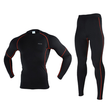 Durable Winter Warm Up Men Underwear Ski Jacket and Pants Thermal Long Johns Male Quick Dry Clothing For Ski/Snowboard