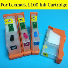 4 Color/Set L100 Ink Cartridge For Lexmark S505/S605/S408/S508/S608 PRO205/705/805/905/208/708/808/908 Printers With Chips(China)