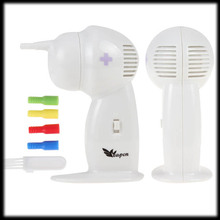 by DHL or EMS 30 pieces White Painless Electric Vacuum Ear Cleaner Electronic Wax Vac Ear Cleaner Ear Care Tool