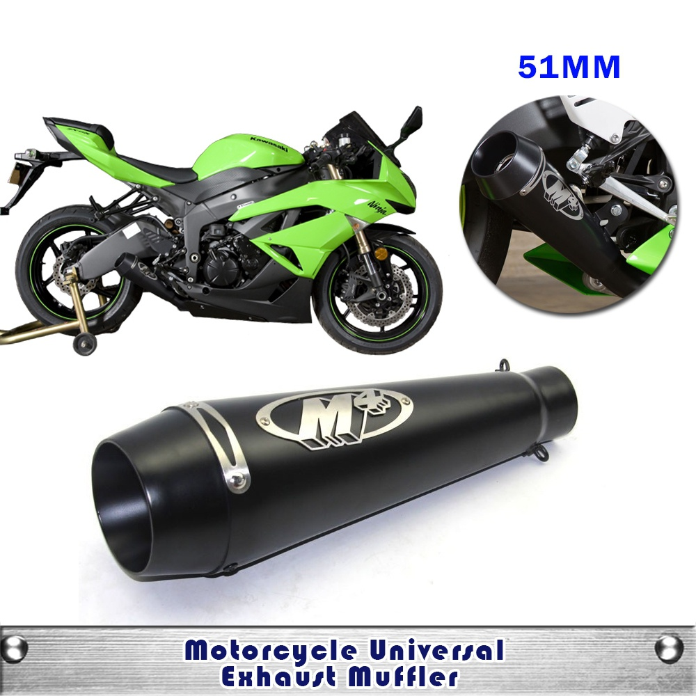 51mm Universal Motorcycle Exhaust M4 Muffler Pipe Case for Honda CBR1000 Case for Yamaha R6 for Kawasaki M4 Exhaust<br><br>Aliexpress