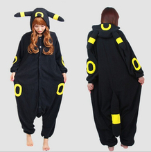 Free Shipping adult onesie Adult Umbreon Onesie Anime Pokemon Cosplay Costume Winter   S M L XL