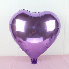 New arrival 18inch foil heart balloon helium globos for wedding party decor Valentine's Day supplies light Purple ballon love
