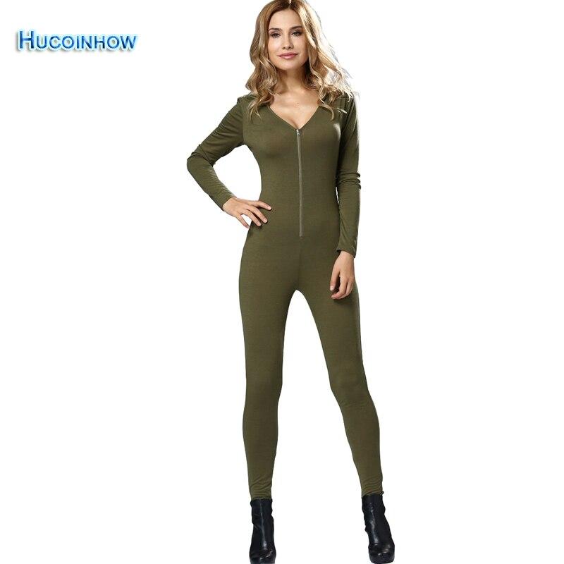 Womens Yoga Sportswear Jumpsuit Ladies Fitness Training Suit Breathable Front Zipper Long Sleeve Bodysuit Trousers Pants <br>