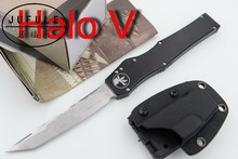 JUFULE Custom Made Marfione HALO V IV 4 5 D2 blade aluminum handle camping hunting survival EDC tool Fixed Blade kitchen knife