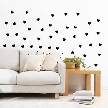 DIY black red white LOVE HEART home decals wall sticker TV sofa background decorative romantic wedding new house decoration art