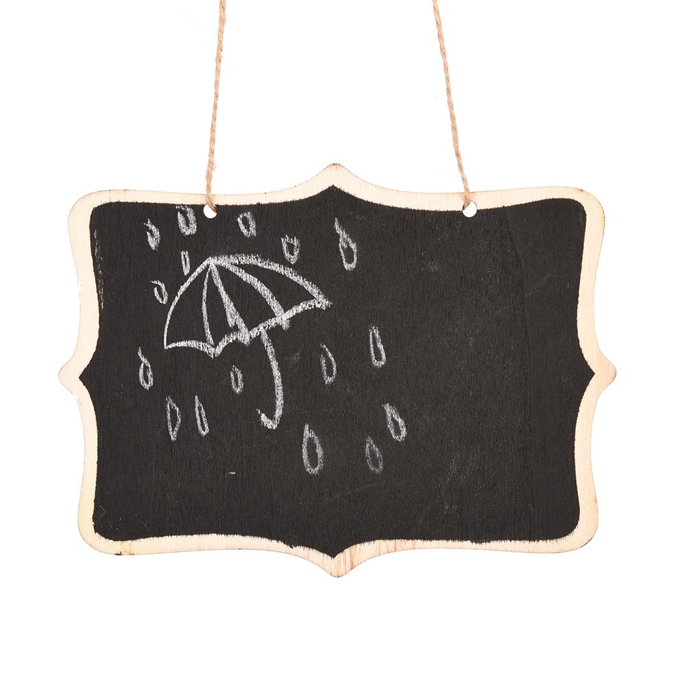 Wooden Wall-mount Black Board With Rope/Wood Blackboard Memo/Message Board Decoration For Home/Office 12*16cm