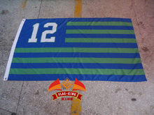 Seattle Seahawks 12 flag, with American national flag background green banner,90*150CM polyster free shipping(China)