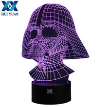 Shipping from to USA Darth Vader Remote Control LED Desk Table Night Light 7 Color Touch Lamp Kids Children Family Holiday Gift(China)