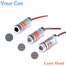 650nm 5mW Red Point Line Cross Laser Module Head Glass Lens Focusable Adjustable Laser Diode Head Industrial Diameter 12MM 5V(China)