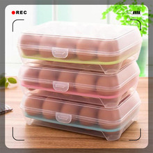 Single Layer Refrigerator Food 15 Eggs Airtight Storage container plastic Box